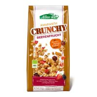 Amaranth Crunchy Mysli  Red fruit, Wild berry økologisk  Allos 400 g