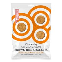 Rice Cracker sesame økologisk 40 g